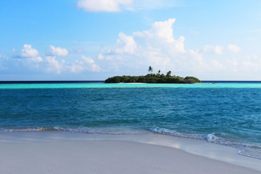 Sandbank Close to Rasdhoo Island in Maldives