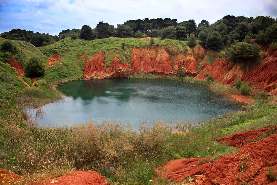 Бокситното езеро, Саленто, Пулия, Италия, Отранто / Cava di Bauxite, Salento, Puglia, Italy, Otranto